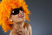 Carnival woman — Stock Photo