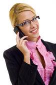 Beautiful Woman on Phone — Stock Photo