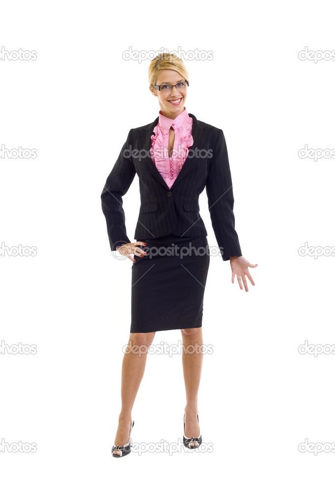 Smiling business woman. Isolated over white background — Stock Photo #2619979