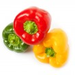 Red, yellow and green paprika — Stock Photo