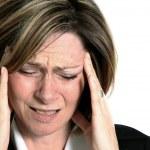 Businesswoman With Headache — Stock Photo