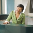 Receptionist with a smile — Stock Photo