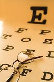 Eye test chart — Stock Photo