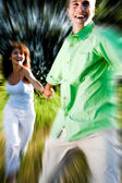 Couple running — Stock Photo