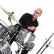 Stock Photo: Drummer on white