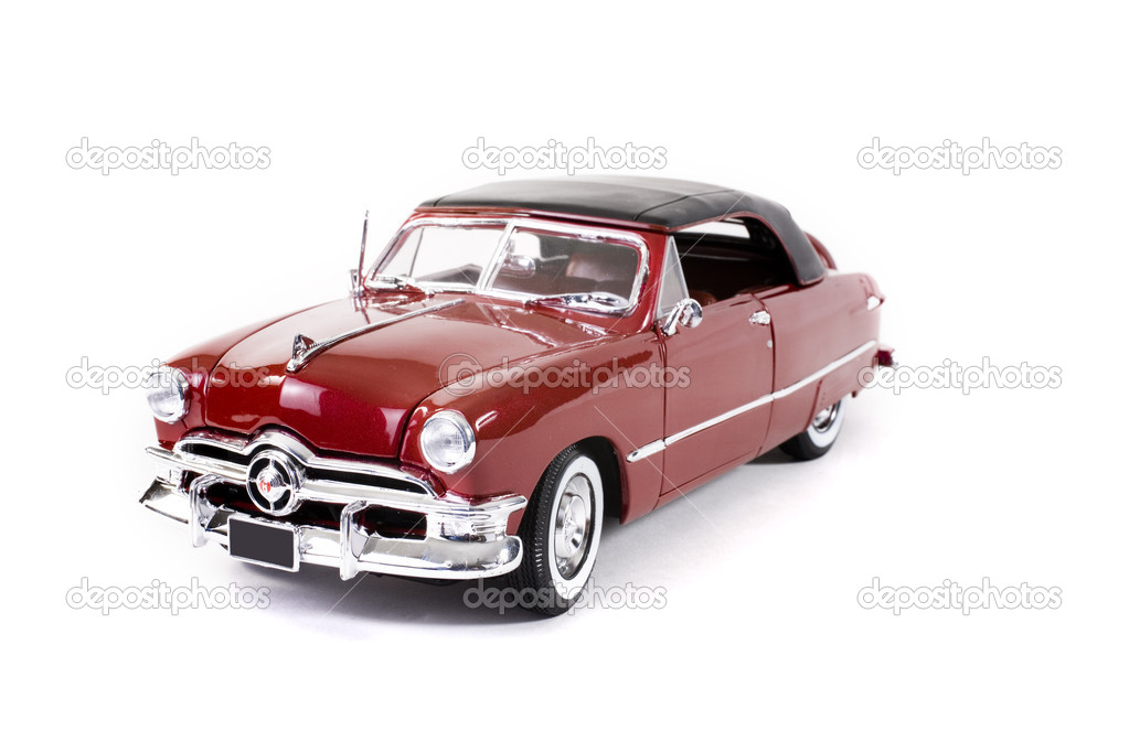 Close up of collectible car over white background — Stock Photo #2352375