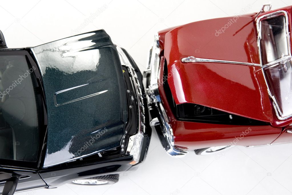 Close up of collectible car over white background — 图库照片 #2352520