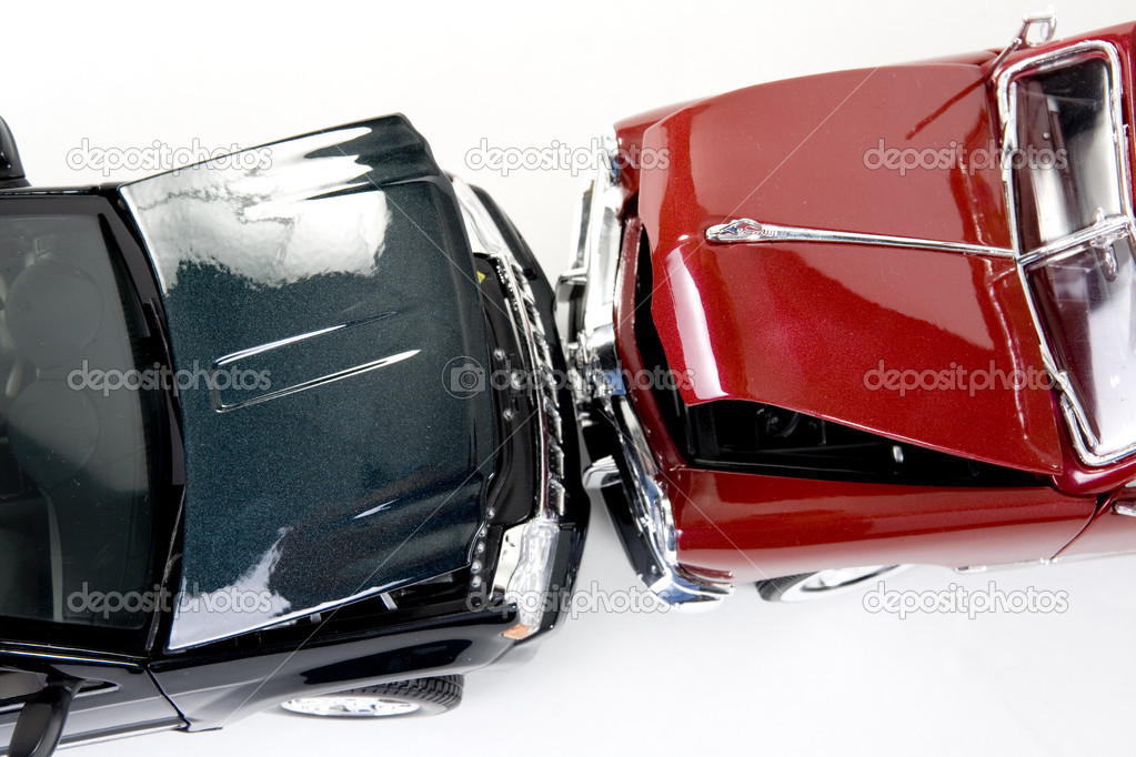 Close up of collectible car over white background — Stock fotografie #2352520