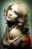 Glamour blond woman — Stock Photo