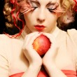 Royalty-Free Stock Photo: Fashion girl with red apple