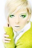 Fashion beautiful blond women — Stock Photo
