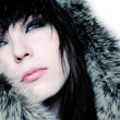 Fashion girl with furs — Stock Photo #2487642