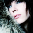 Fashion girl with furs — Stock Photo #2487688