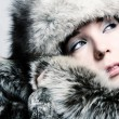 Fashion girl with furs — Stock Photo #2487729