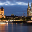 Cologne twilight — Stock Photo