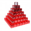 Stock Photo: Red pyramid