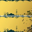 Halloween banners — Vector de stock
