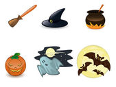 Halloween icon set — Stockvektor