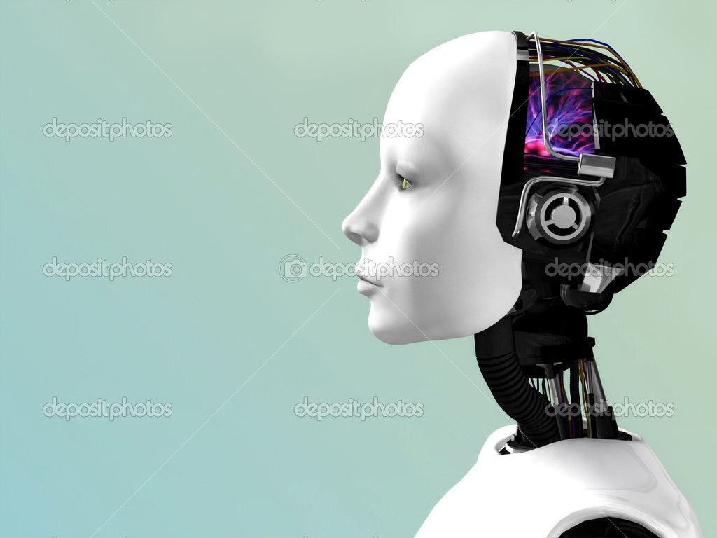 An image of a robot woman head in profile. — Stock Photo #2286138