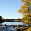 Stock Photo: River in autumn