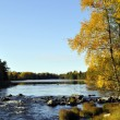 River in autumn - Stock Photo