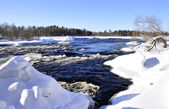 River in winter — Stock Photo