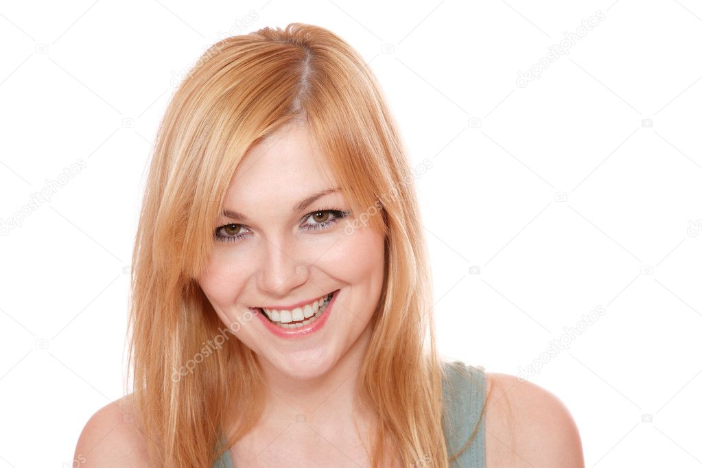 Portrait of a fresh and lovely woman over white background — Stock Photo #2286091