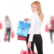 Group of shopping girls — Stock Photo #2335797