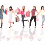 Small group shopping girl — Stock Photo