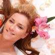 Stock Photo: Attractive woman getting spa treatment