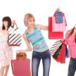 Group shopping girls — Stock Photo #2342632