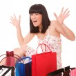 Royalty-Free Stock Photo: Shopping women smiling.
