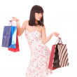 Shopping women smiling. — Stockfoto