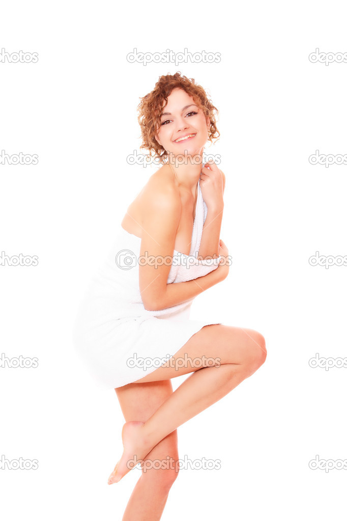 Beautiful young woman in towel - health and beauty  Stock Photo #2341244