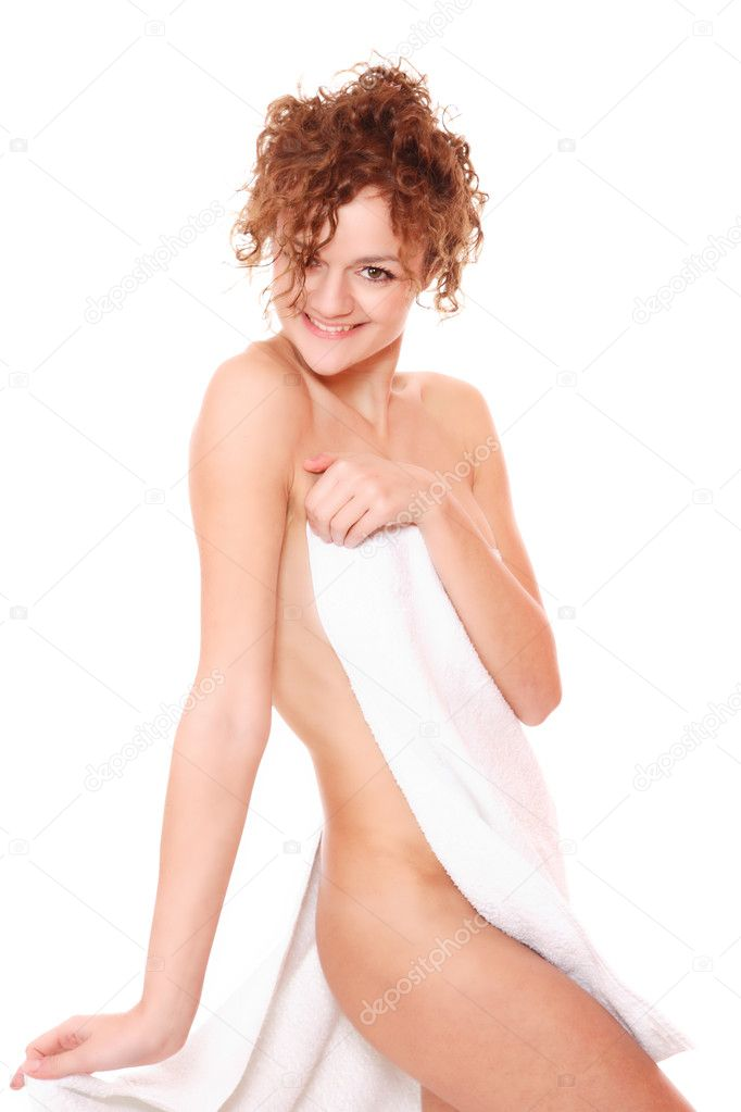 Beautiful young woman in towel - health and beauty — Stock Photo #2341247