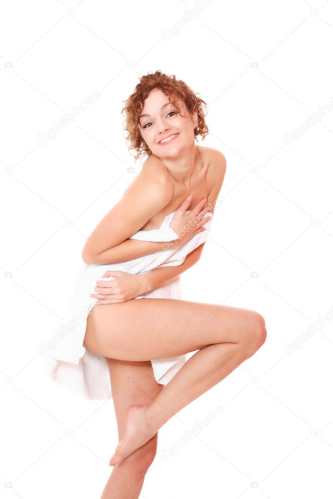 Beautiful young woman in towel - health and beauty  Stock Photo #2342470