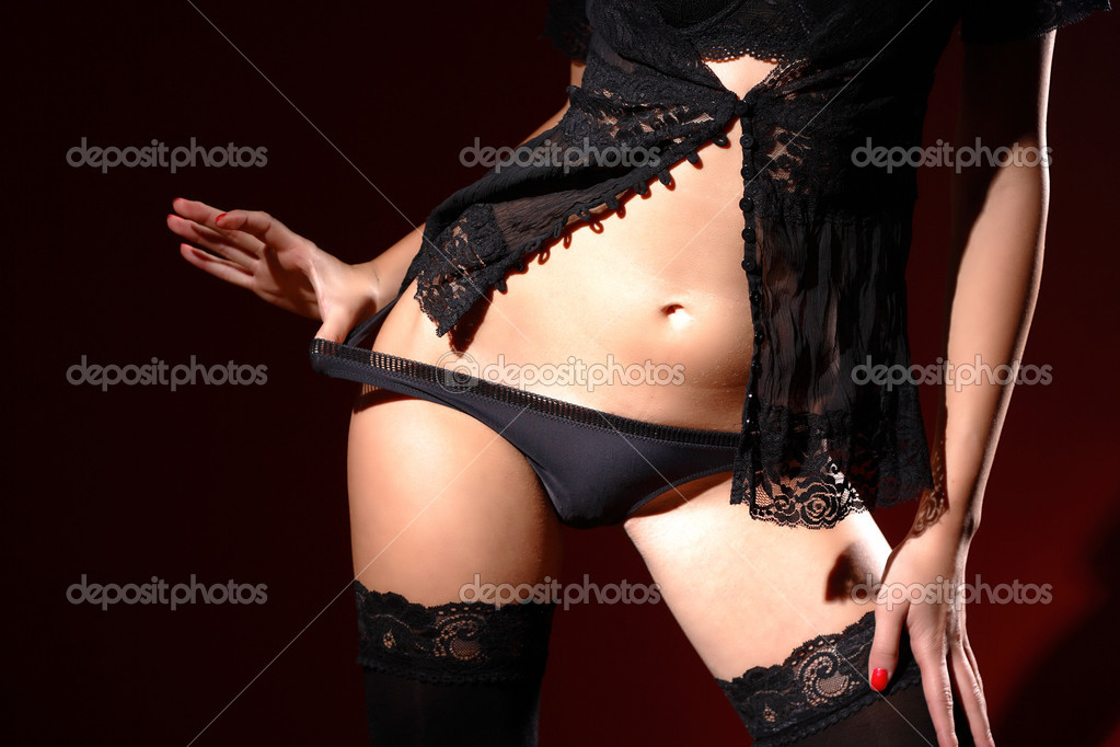 Classic low key photo of sexy woman body  — Stock Photo #2344700