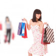 Group of shopping girls — Stock Photo #2351342