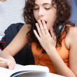 Beautiful teenager studying — Stockfoto