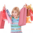 Shopping women smiling — Stock Photo