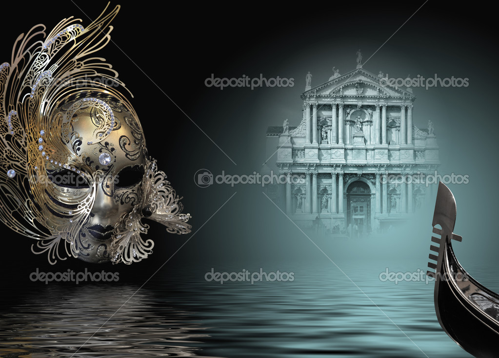 Beautiful carnival mask composition from venice Italy — Stock Photo #2357397