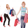 Group of shopping girls - Stock Photo