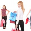 grupp shopping flickor — Stockfoto
