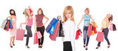 Group of shopping girls — Stock Photo