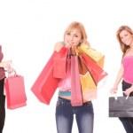 Grupo de chicas de compras — Foto de Stock