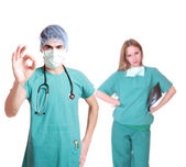 Caucasian mid adult male doctor — Stock Photo