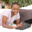 Happy African American woman — Stock Photo