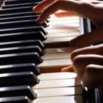 Woman playing piano — Stock Photo #2694716