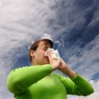Blowing nose — Stock Photo