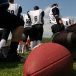 American football team — Stock Photo